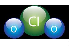 Molecula del dioxido de cloro